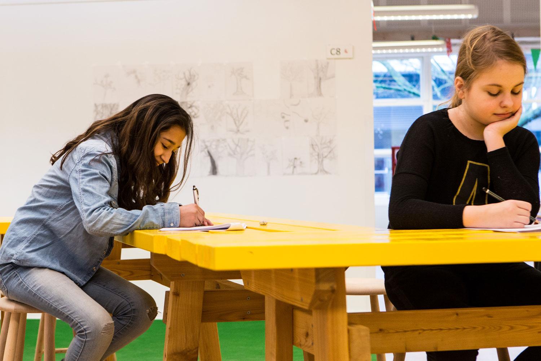 engstrandskolen børn tegner Rune Fjord Studio