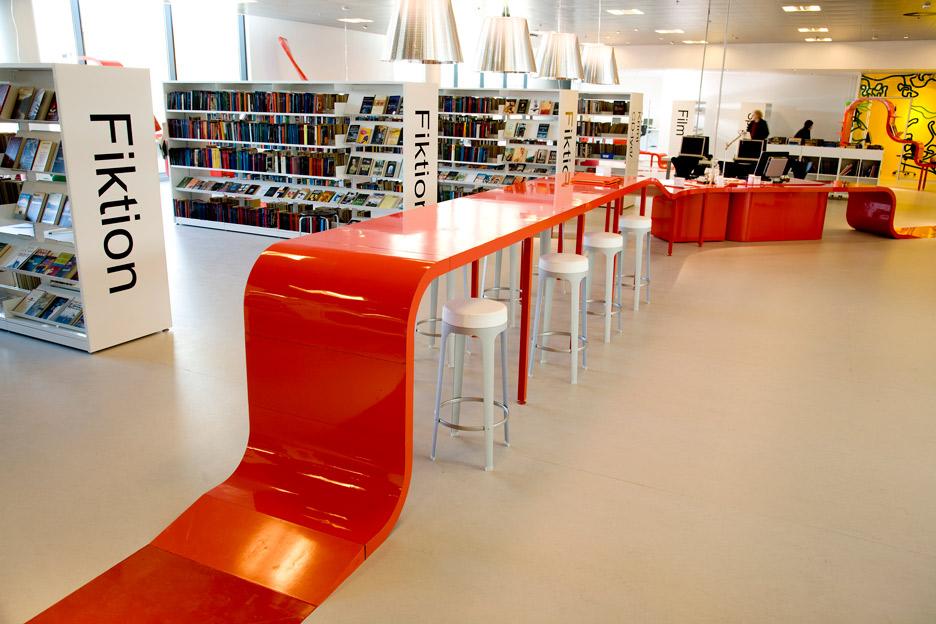 Hjørring hovedbibliotek rune fjord studio